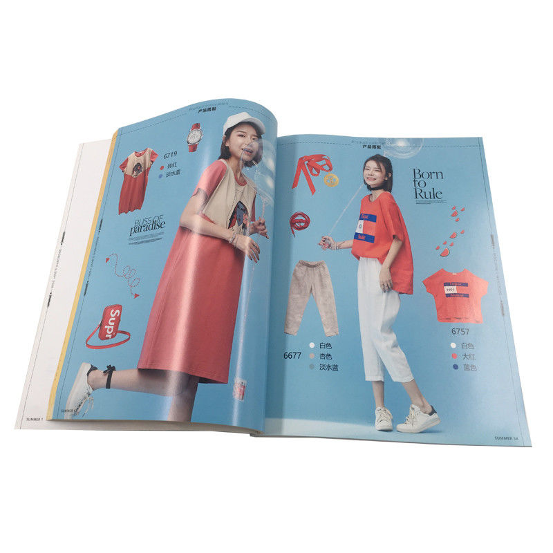 Fashion  A4  Magazine Printing Services / Perfect Bound Brochure Printing